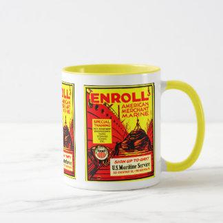 Marine marchande américaine - inscrivez-vous mug