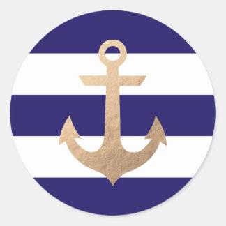 Marine nautique sticker rond