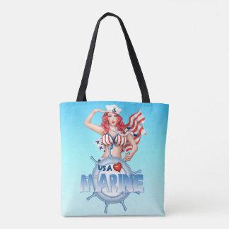 MARINE SEXY tout plus de - imprimez le MILIEU de Tote Bag