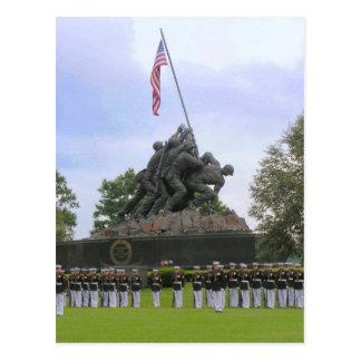 Marines à la carte postale de statue d'Iwo Jima