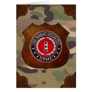 Marines des USA : Garantie en chef quatre (usmc Cartes