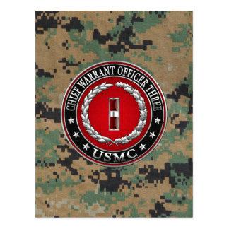 Marines des USA : Garantie en chef trois (usmc Carte Postale