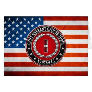 Marines des USA : Garantie en chef trois (usmc Cartes