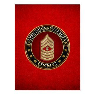 Marines des USA : Sergent d'artillerie principal Carte Postale