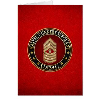 Marines des USA : Sergent d'artillerie principal Cartes