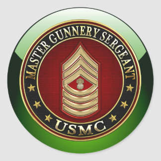 Marines des USA : Sergent d'artillerie principal Sticker Rond