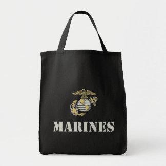 Marines [pochoir] sac en toile
