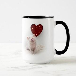 Marinez la tasse de coeur de porc