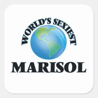 Marisol le plus sexy du monde autocollant carré