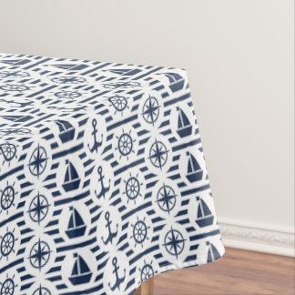 Maritime dans le motif bleu nappe