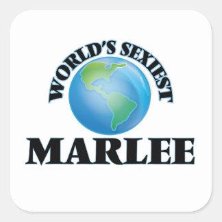 Marlee le plus sexy du monde autocollant carré