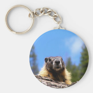 Marmot d'or au Canada Porte-clé Rond