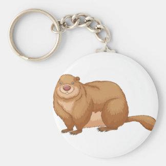 Marmotte d'Amérique Porte-clé Rond