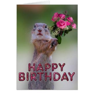 Marmotte mignonne carte de vœux