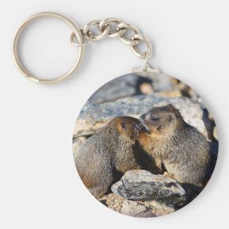marmotte porte-clé rond