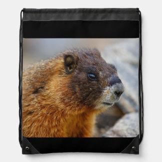marmotte sac avec cordons