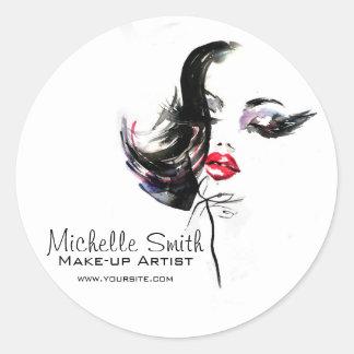 Marquage à chaud d'artiste d'icône de visage de sticker rond
