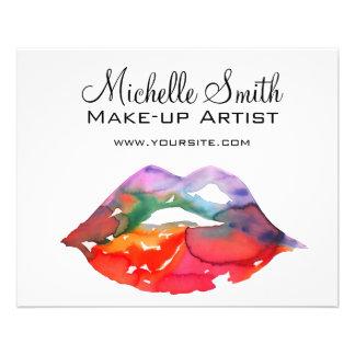Marquage à chaud de maquillage de lèvres prospectus 11,4 cm x 14,2 cm