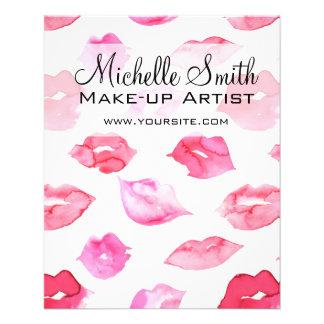 Marquage à chaud rose de maquillage de motif de prospectus 11,4 cm x 14,2 cm