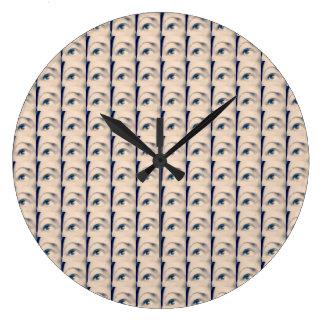 marque chanceuse de karma grande horloge ronde
