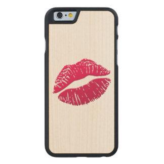 Marque de baiser - Emoji Coque En Érable iPhone 6 Case