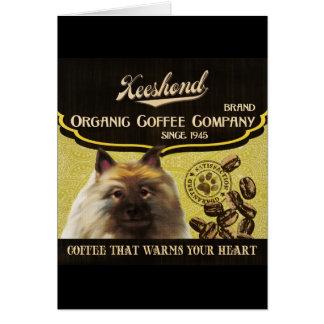 Marque de Keeshond - Organic Coffee Company Carte De Vœux