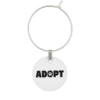Marque-verres Adoptez le marque - verre de chien de délivrance