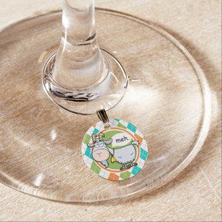 Marque-verres Chèvre drôle ; Motif à motifs de losanges coloré