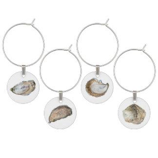 Marque - verres d'huître - ensemble de 4 marque-verre