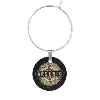 Marque-verres Étiquette vintage arsenical de poison de style