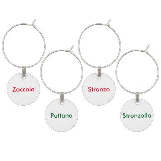 Marque - verres italiens de mot de malédiction marque-verre