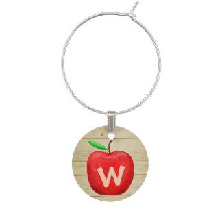 Marque-verres Monogramme rouge d'Apple