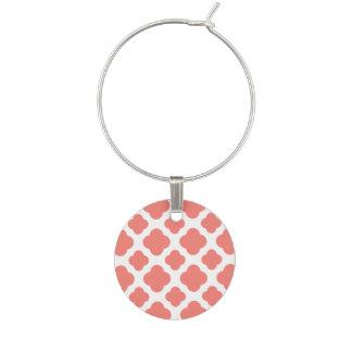 Marque-verres Motif rose de corail de Quatrefoil