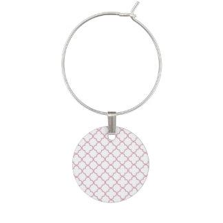Marque-verres Motif rose de Quatrefoil