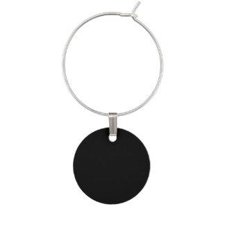 Marque-verres Personnaliser simplement noire de couleur solide