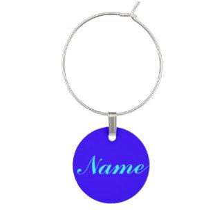 Marque-verres Pourpre bleu votre étiquette nommé d'étiquette de