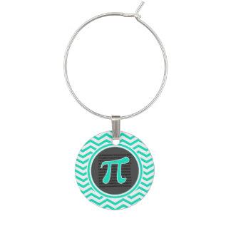 Marque-verres Symbole de pi ; Aqua Chevron vert