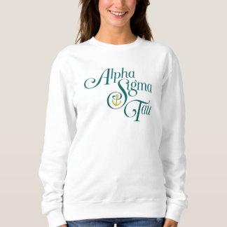 Marque verticale 2 de Tau d'alpha sigma Sweatshirt