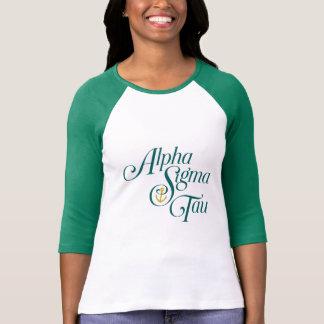 Marque verticale 2 de Tau d'alpha sigma T-shirt