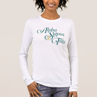 Marque verticale 2 de Tau d'alpha sigma T-shirt À Manches Longues