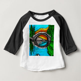 Marqueur #2 de réflexion de pont coloré t-shirt pour bébé