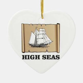 marqueur de hautes mers ornement cœur en céramique