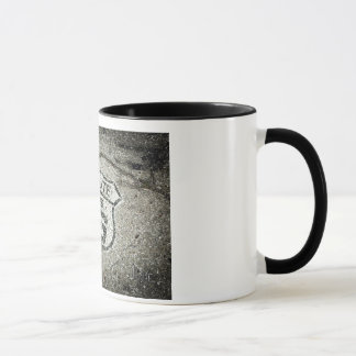 Marqueur de l'itinéraire 66 mug