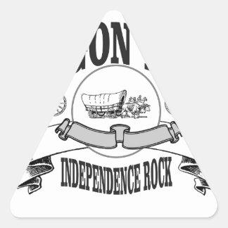 Marqueur de roche de l'indépendance ouais sticker triangulaire