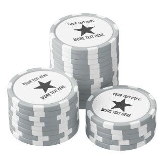 Marqueurs faits sur commande de boule de golf de rouleau de jetons de poker