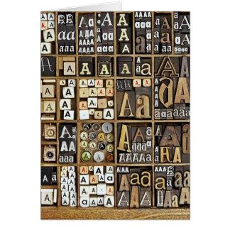 Marquez avec des lettres A Carte De Vœux