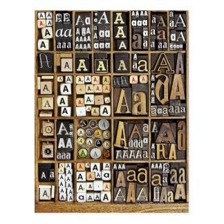 Marquez avec des lettres A Carte Postale