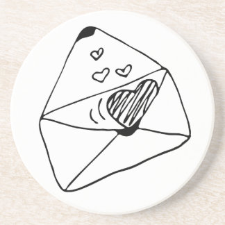 Marquez avec des lettres avec le style romantique dessous de verre