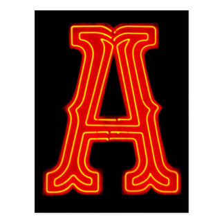 Marquez avec des lettres le monogramme de lampe au carte postale