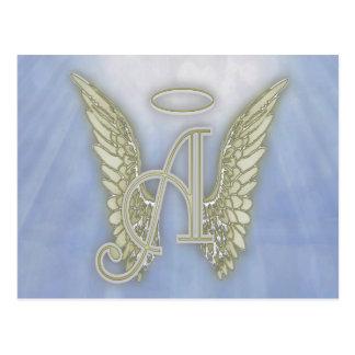 Marquez avec des lettres un monogramme d'ange carte postale